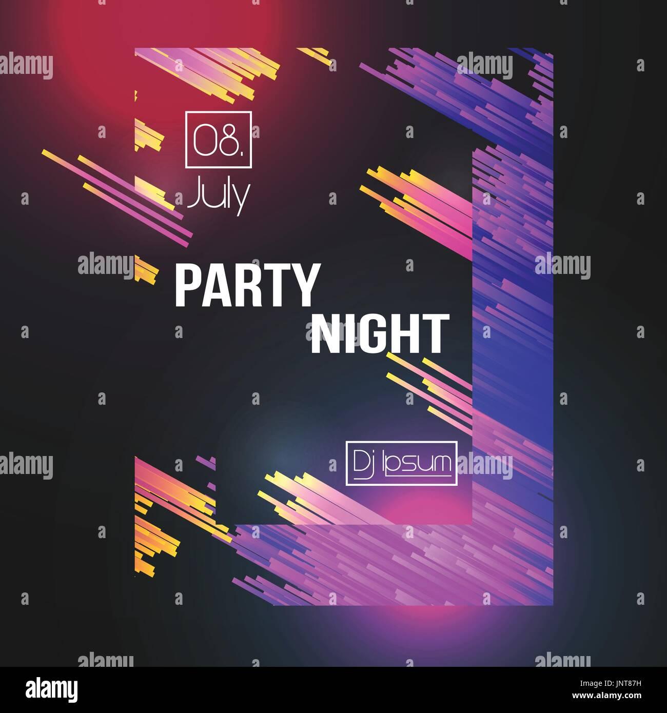 modern club party flyer vector illustration stock vector art
