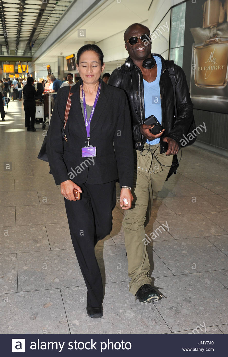 Seal seal is seen arriving at heathrow airport in london seal seal is seen arriving at heathrow airport in london seal joked with photographers that the meet and greet girl was his new girlfriend kristyandbryce Image collections