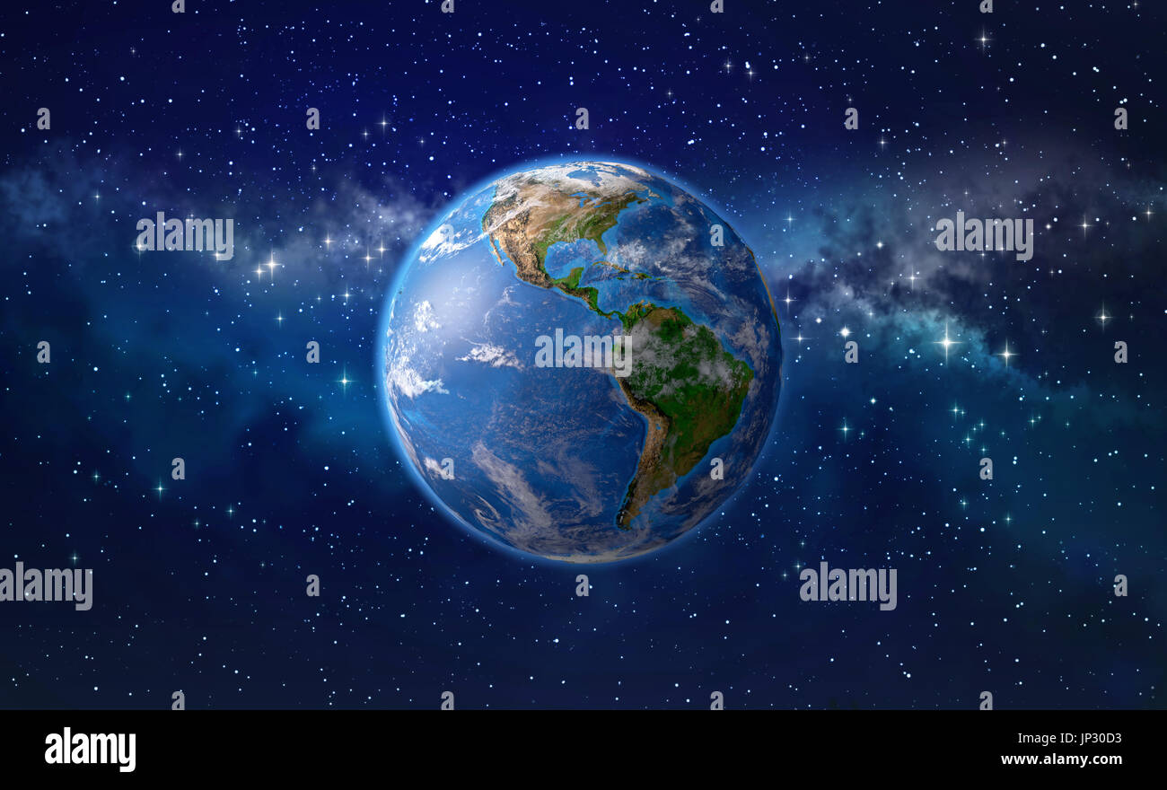 Earth from space north america stock photos earth from for 3d map of outer space