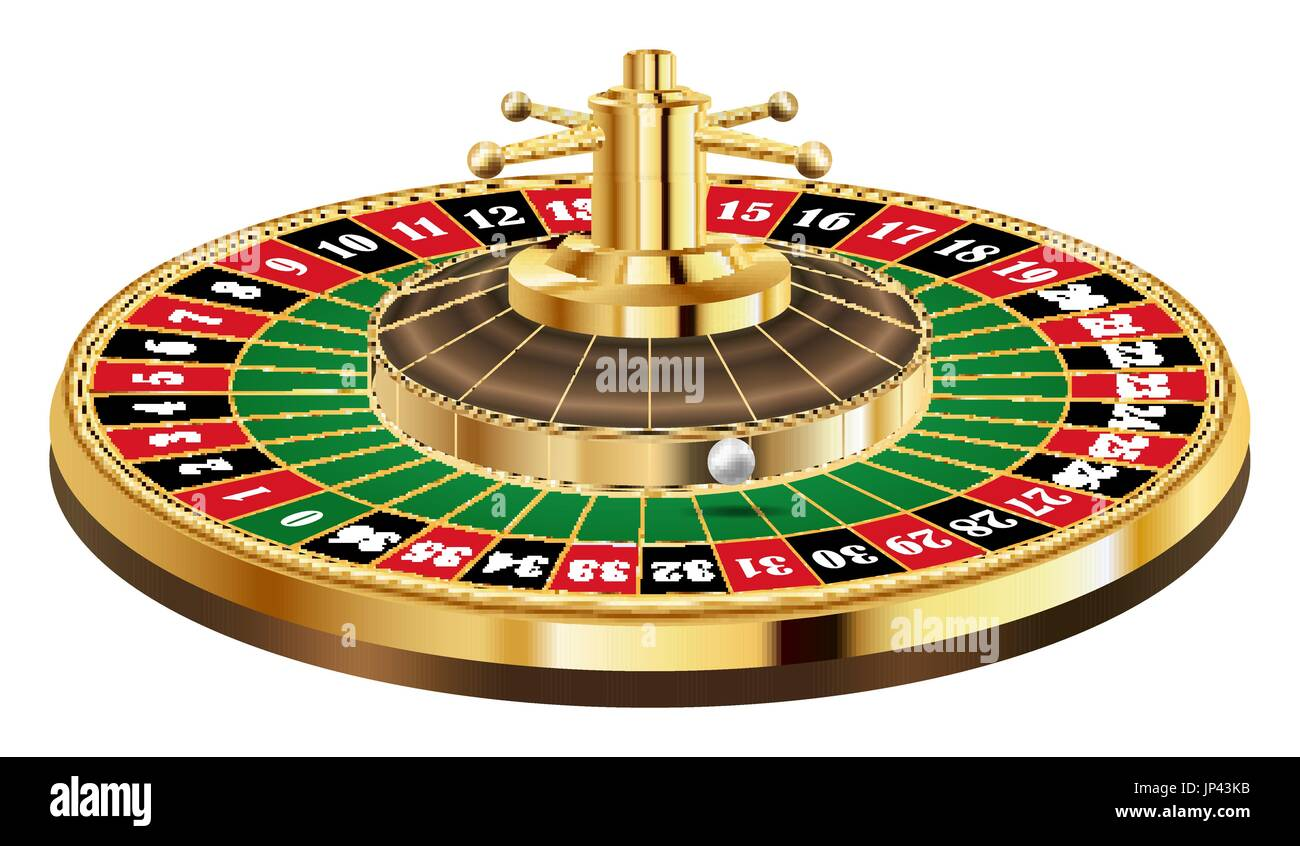 Traditional european roulette table vector illustration stock vector - Casino Roulette With Ball On A White Background Stock Image