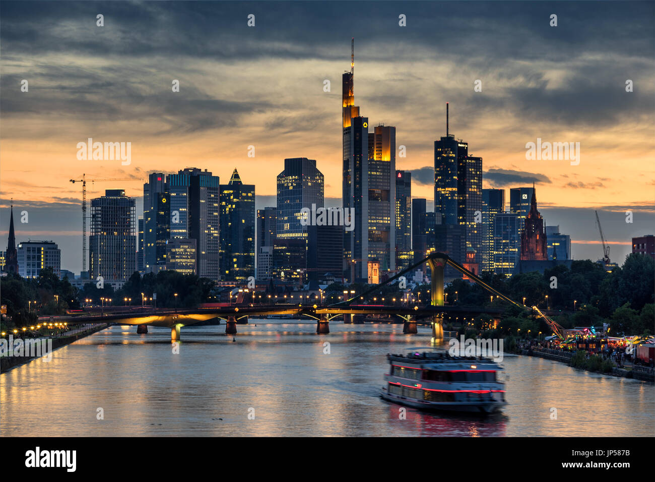 Looking Across The Main River To The CBD In Frankfurt Am Main In - Frankfurt river