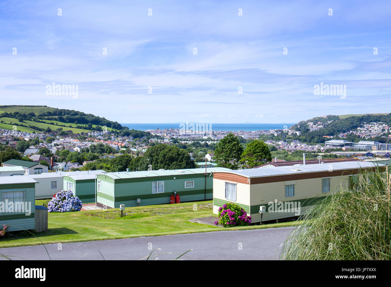 Aberystwyth As Seen From Midfield Holiday Residential Park Ceredigion Wales UK