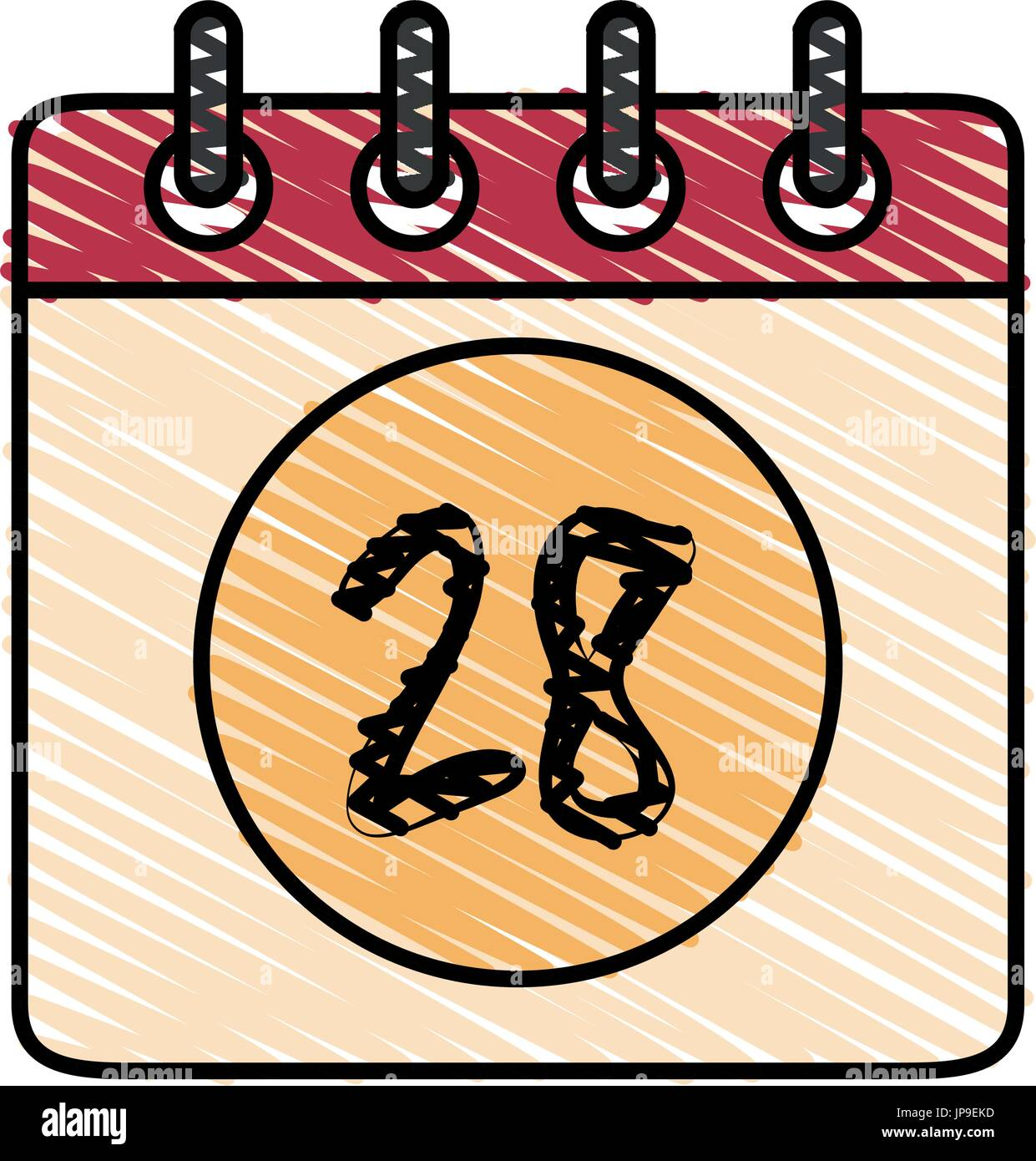 Calendar Illustration Vector : Calendar page tuesday stock photos