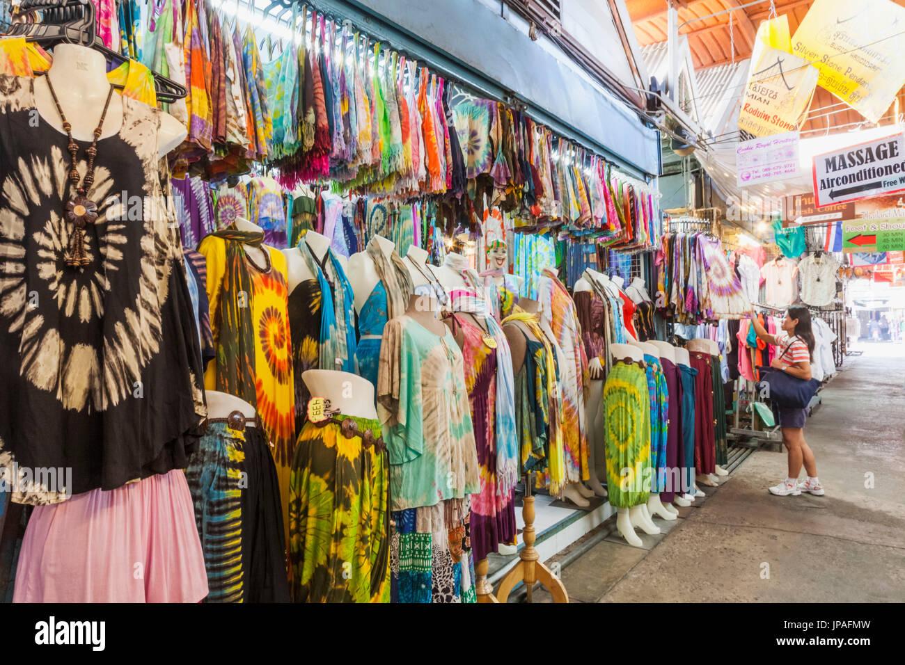thailand bangkok chatuchak market display of womens clothing