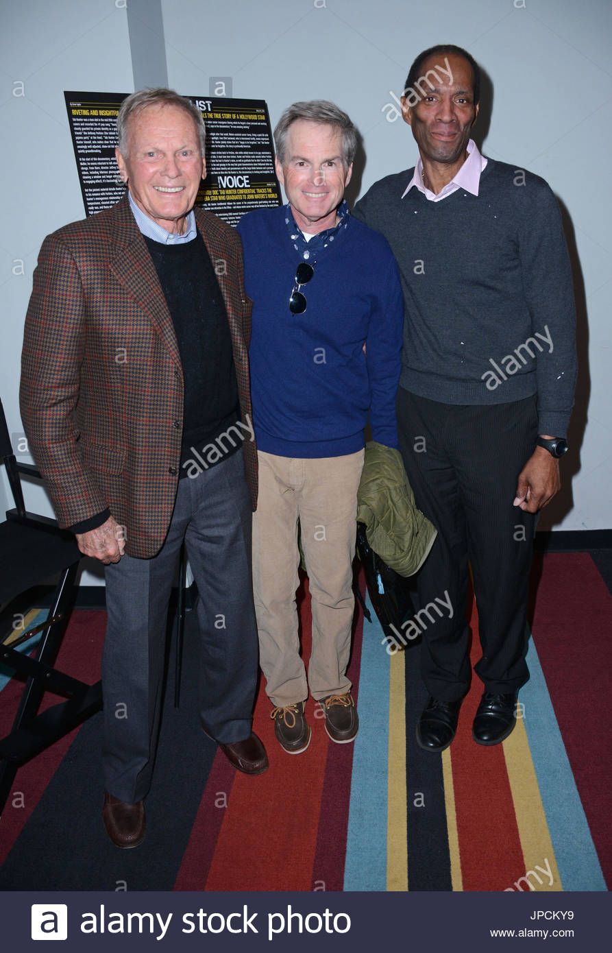 Tab Hunter, partner Allan Glaser, theater manager Ed ... Tab Hunter Partner