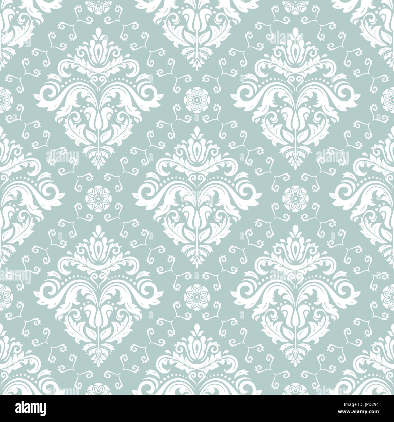 Seamless Classic Light Blue And White Pattern Traditional Orient Ornament Vintage Background