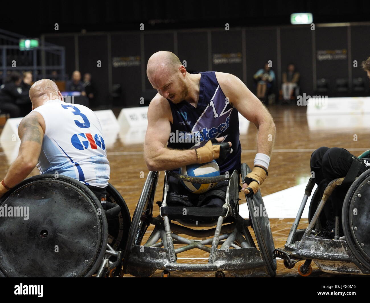 August 2 2017 Sydney Olympic Park Australia Gio Wheelchair Rugby National Championship And 2018 IWRFWheelchair World Official