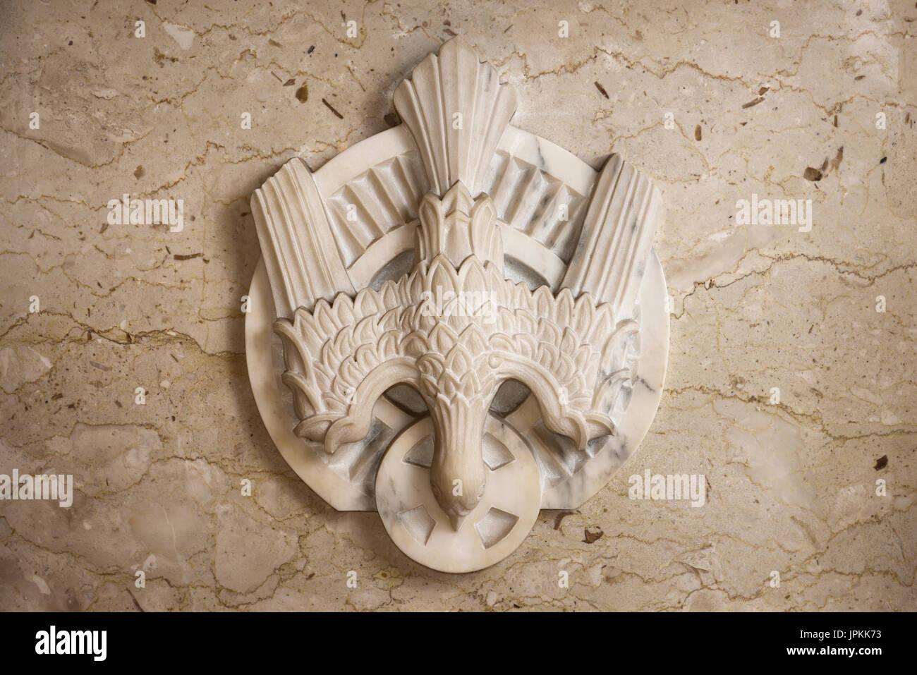 Carved marble dove symbol of the holy spirit of god at the carved marble dove symbol of the holy spirit of god at the tabernacle of a toronto roman catholic church biocorpaavc