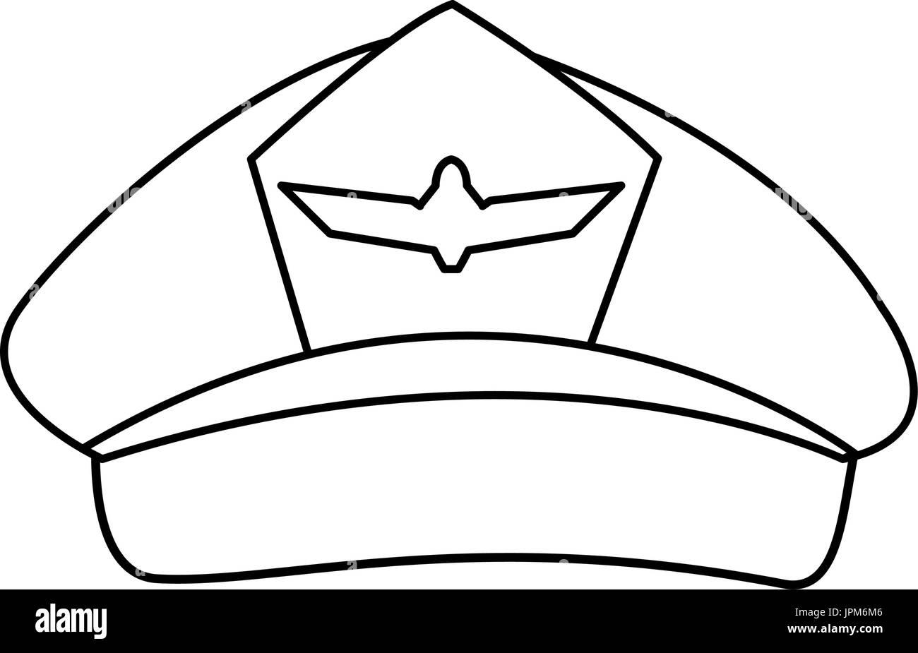 Pilot Hat Illustration Stock Photos & Pilot Hat ...