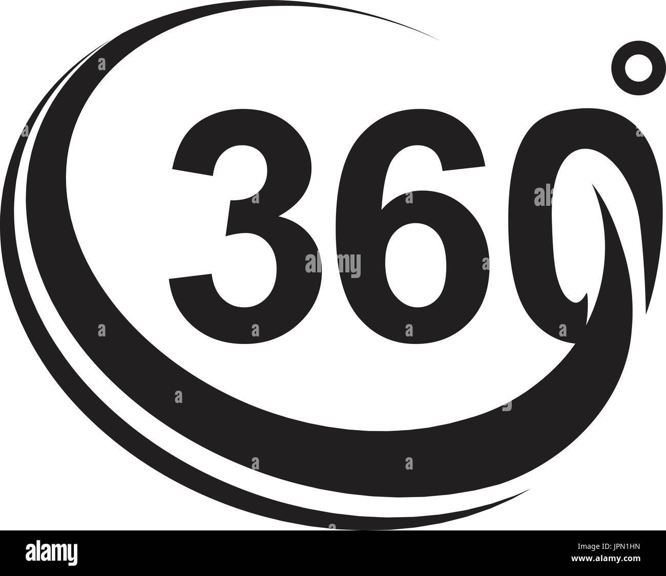 Degrees symbol stock photos degrees symbol stock images alamy 360 degree black version icon design isolated on white background stock image biocorpaavc Choice Image