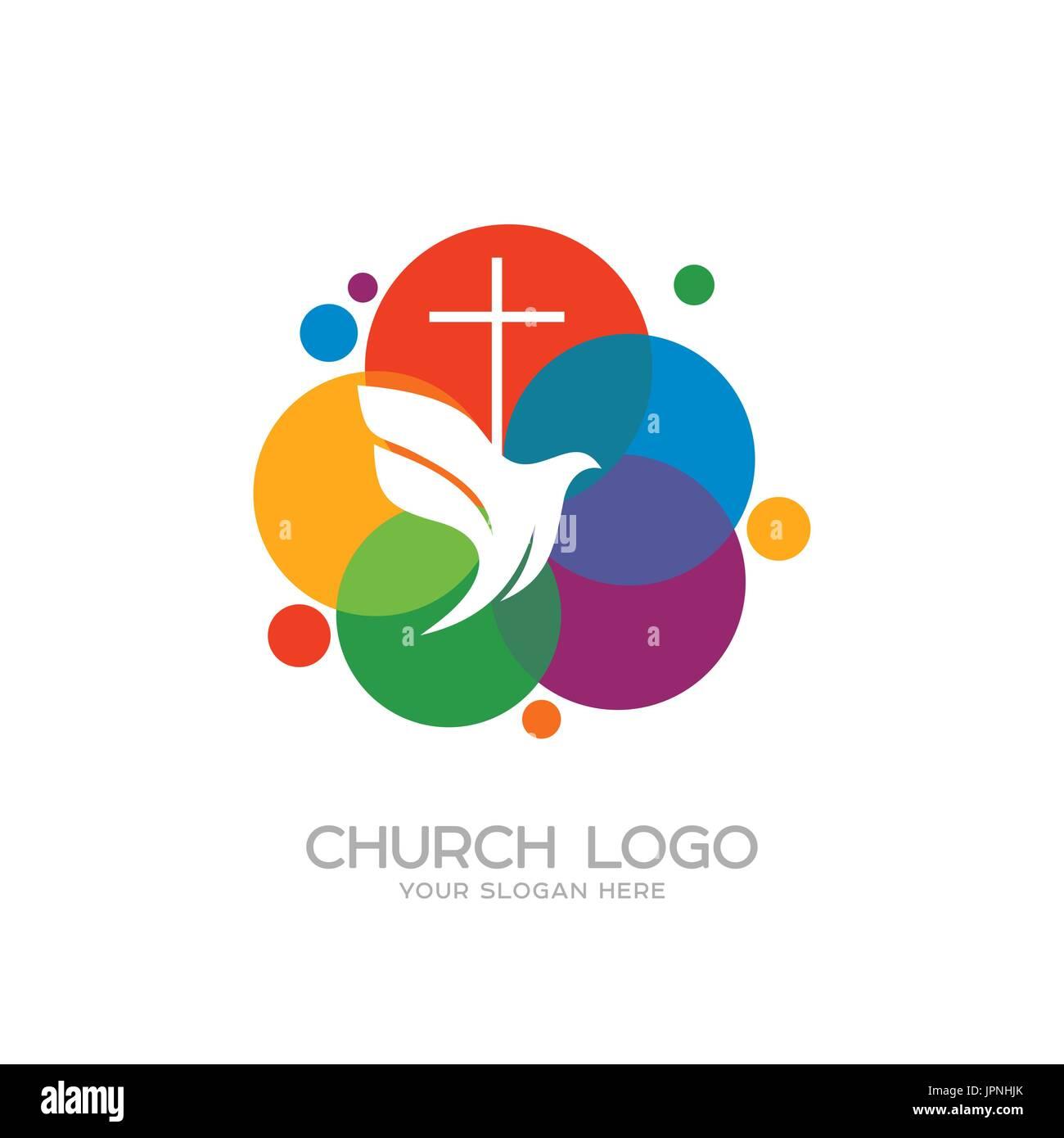 Church logo christian symbols the cross of jesus and the dove church logo christian symbols the cross of jesus and the dove thecheapjerseys Gallery