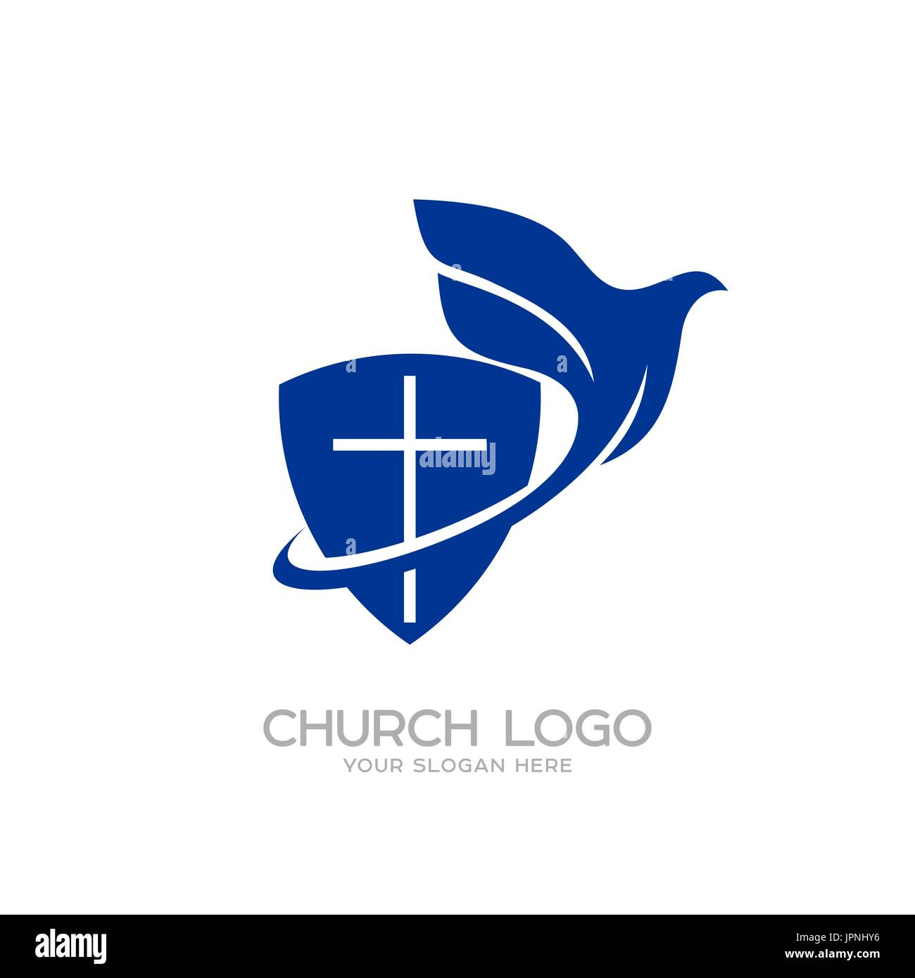 Church logo christian symbols the shield of faith and the holy christian symbols the shield of faith and the holy spirit biocorpaavc Gallery