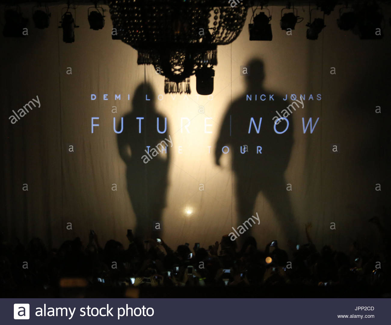 Nick jonas demi lovato demi lovato and nick jonas future now stock nick jonas demi lovato demi lovato and nick jonas future now special vip concert held for fans at irving plaza in new york city m4hsunfo