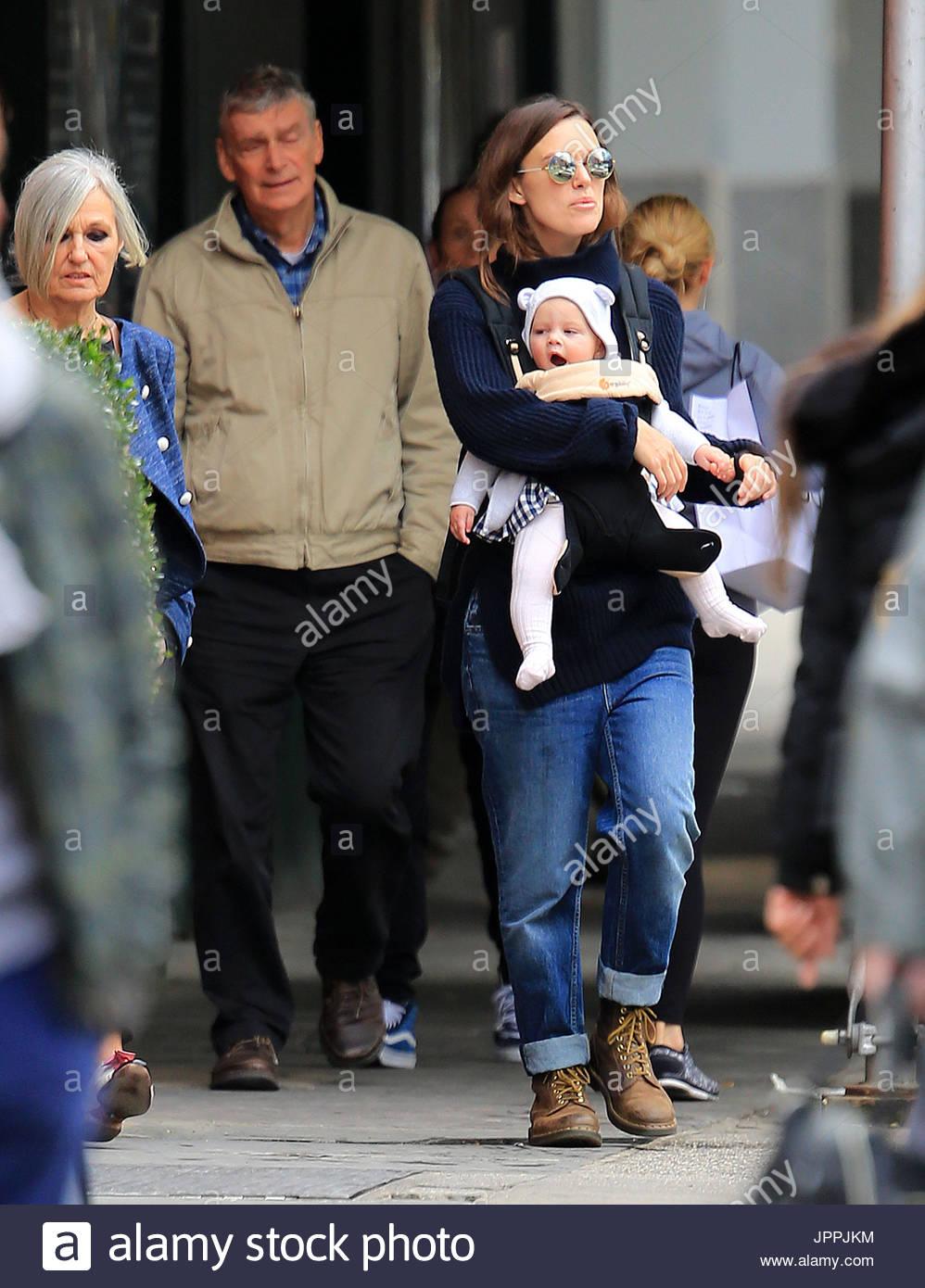 Keira Knightley, baby Edie, James Righton, Sharman ...