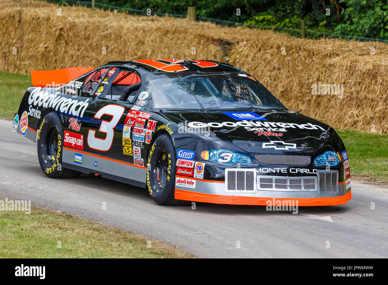 Chevrolet Monte Carlo Nascar Racer With Driver Dale Earnhardt Jpwmww