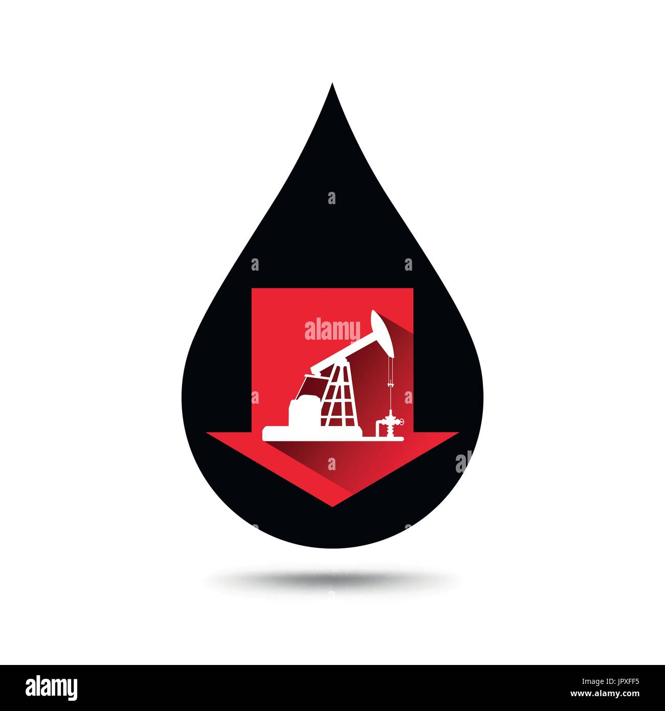 Oil Industry Concept Oil Price Falling Down Graph With Petroleum