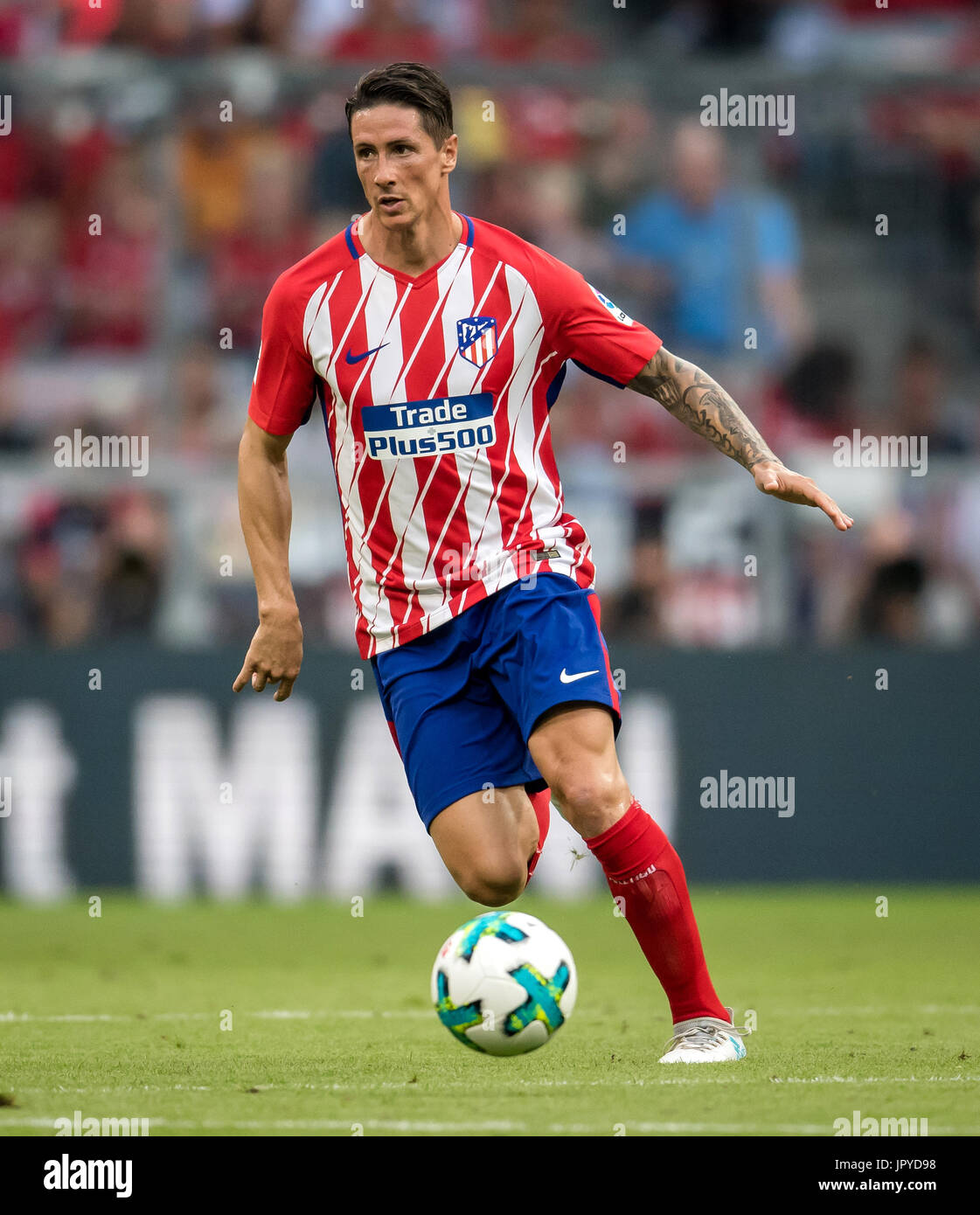 Munich Germany 1st Aug 2017 Madrid s Fernando Torres in action