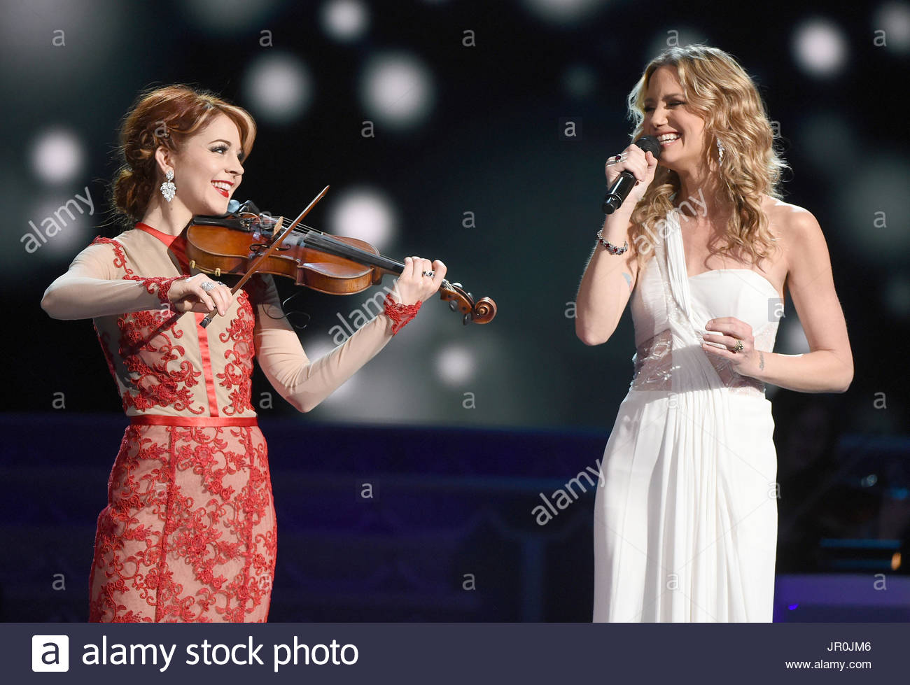 Lindsey Stirling, Jennifer Nettles. The 2015 CMA Country Christmas ...