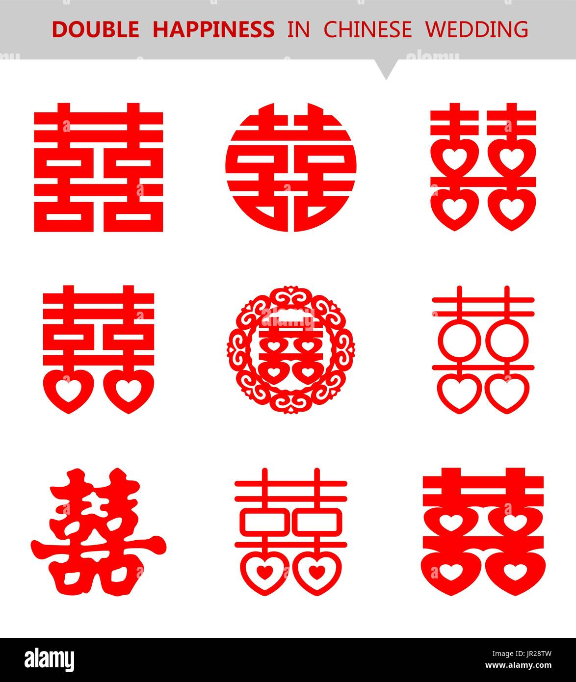 Vector Chinese Double Happiness Symbol Stock Vector Art