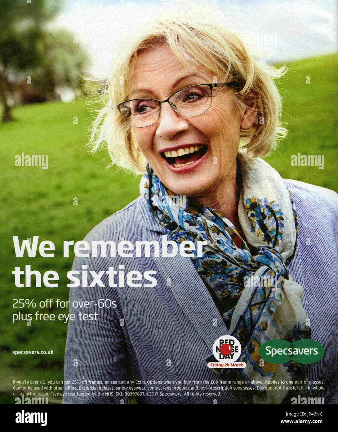 s uk specsavers magazine advert stock photo royalty  2010s uk specsavers magazine advert