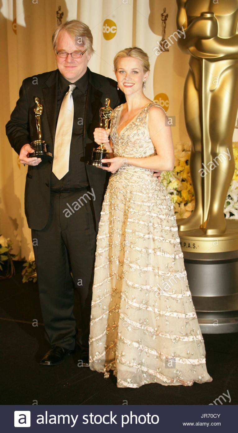 Winners Reese Witherspoon And Philip Seymour Hoffman In The Press Room At 78th Academy Awards Kodak Theater Los Angeles