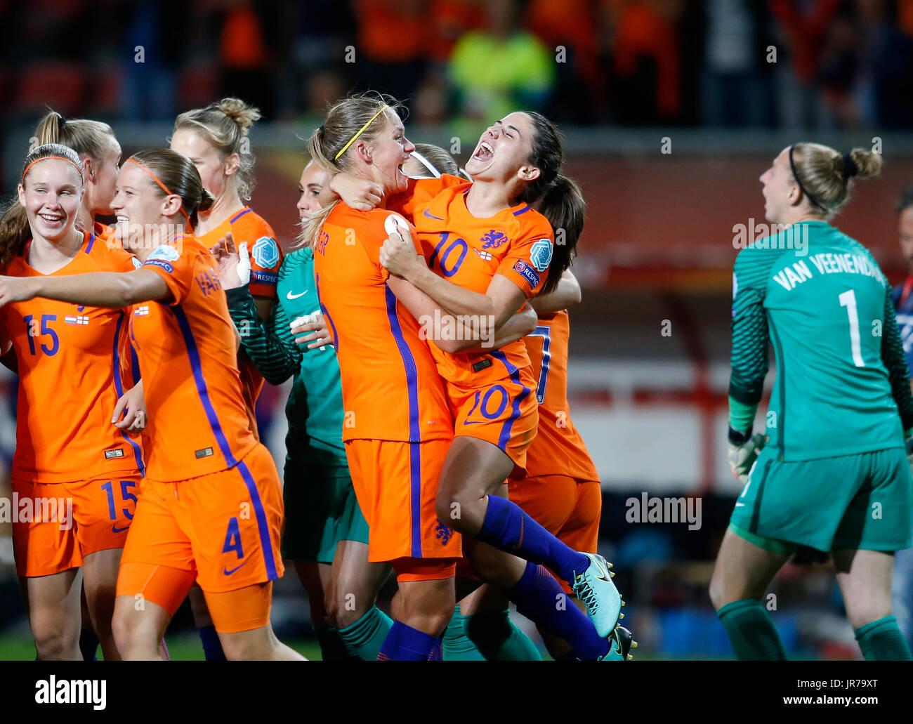Enschede netherlands. 3rd aug 2017. danielle van de donk of stock