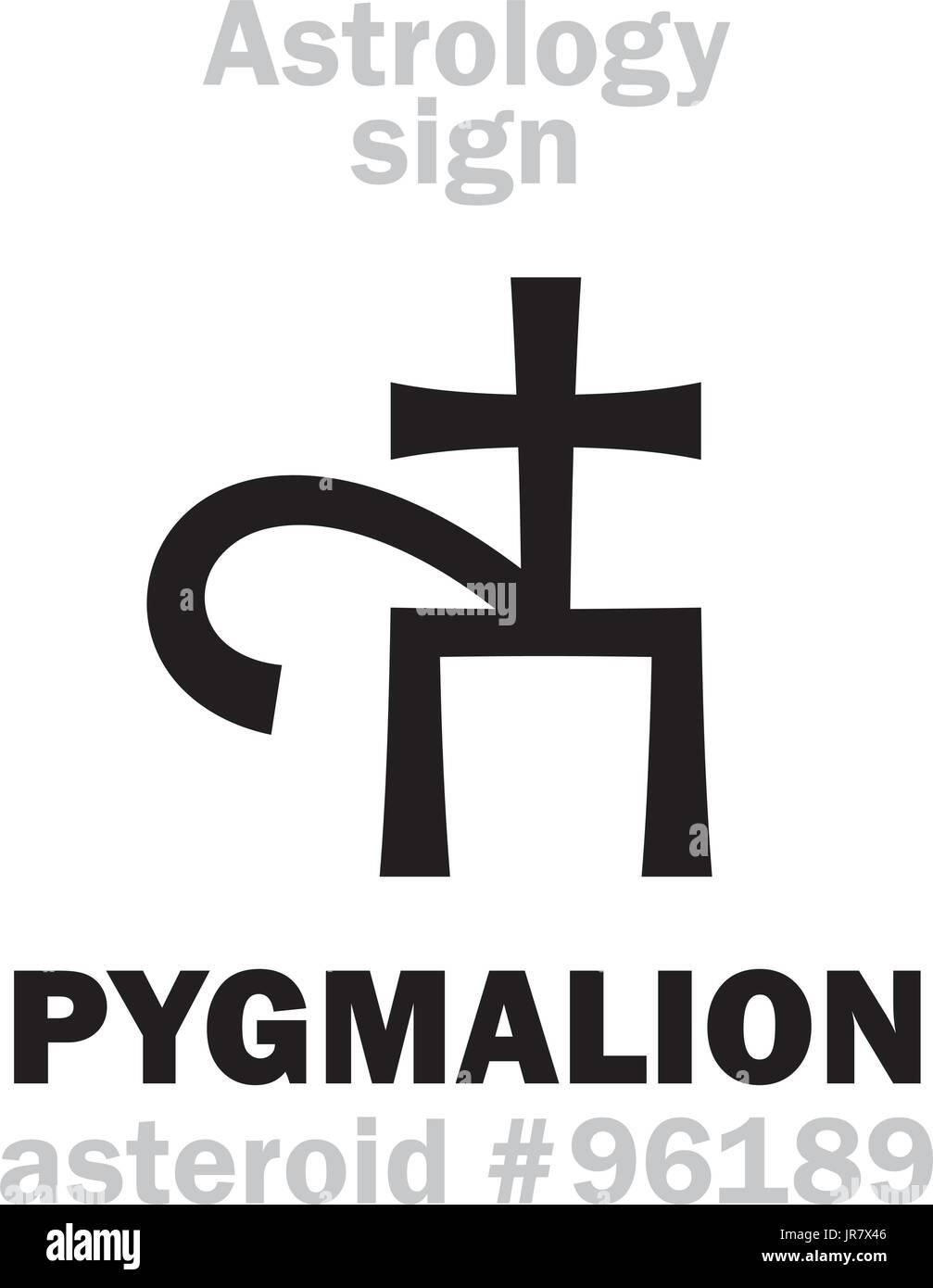 Pygmalion stock vector images alamy astrology alphabet pygmalion asteroid 96189 hieroglyphics character sign single symbol buycottarizona