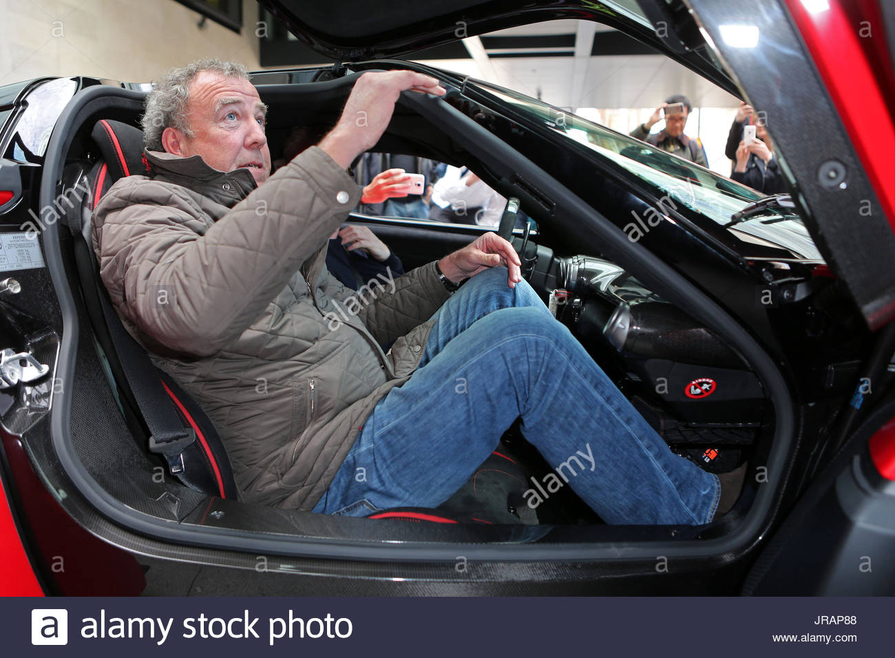Former Top Gear TV Presenter Jeremy Clarkson Being Interviewed By - Classic car studio tv show