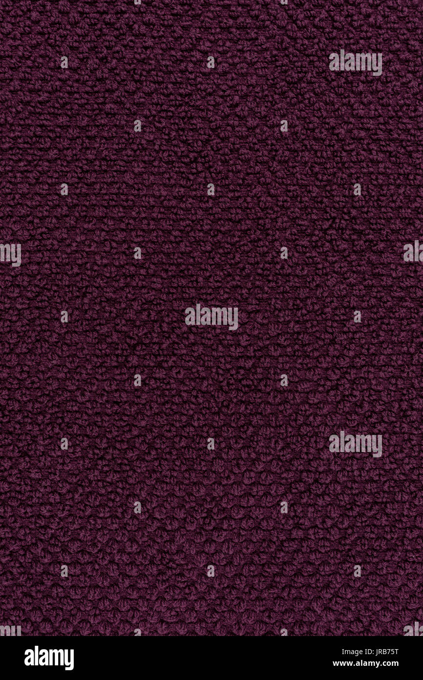 Violet Towel Texture Or Cotton Fabric Background Stock Photo