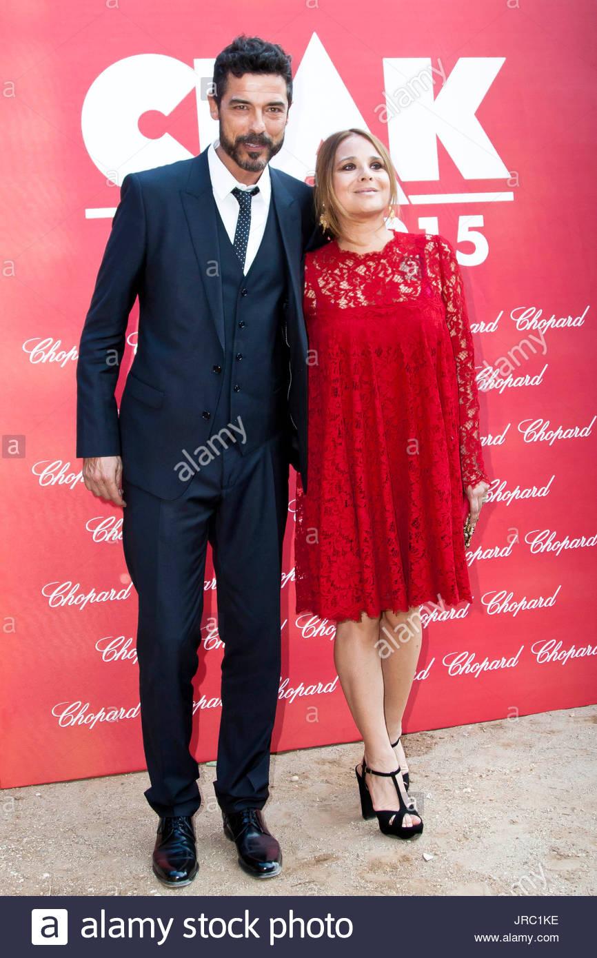 Alessandro Gassman and wife Sabrina Knaflitz. Guest ...