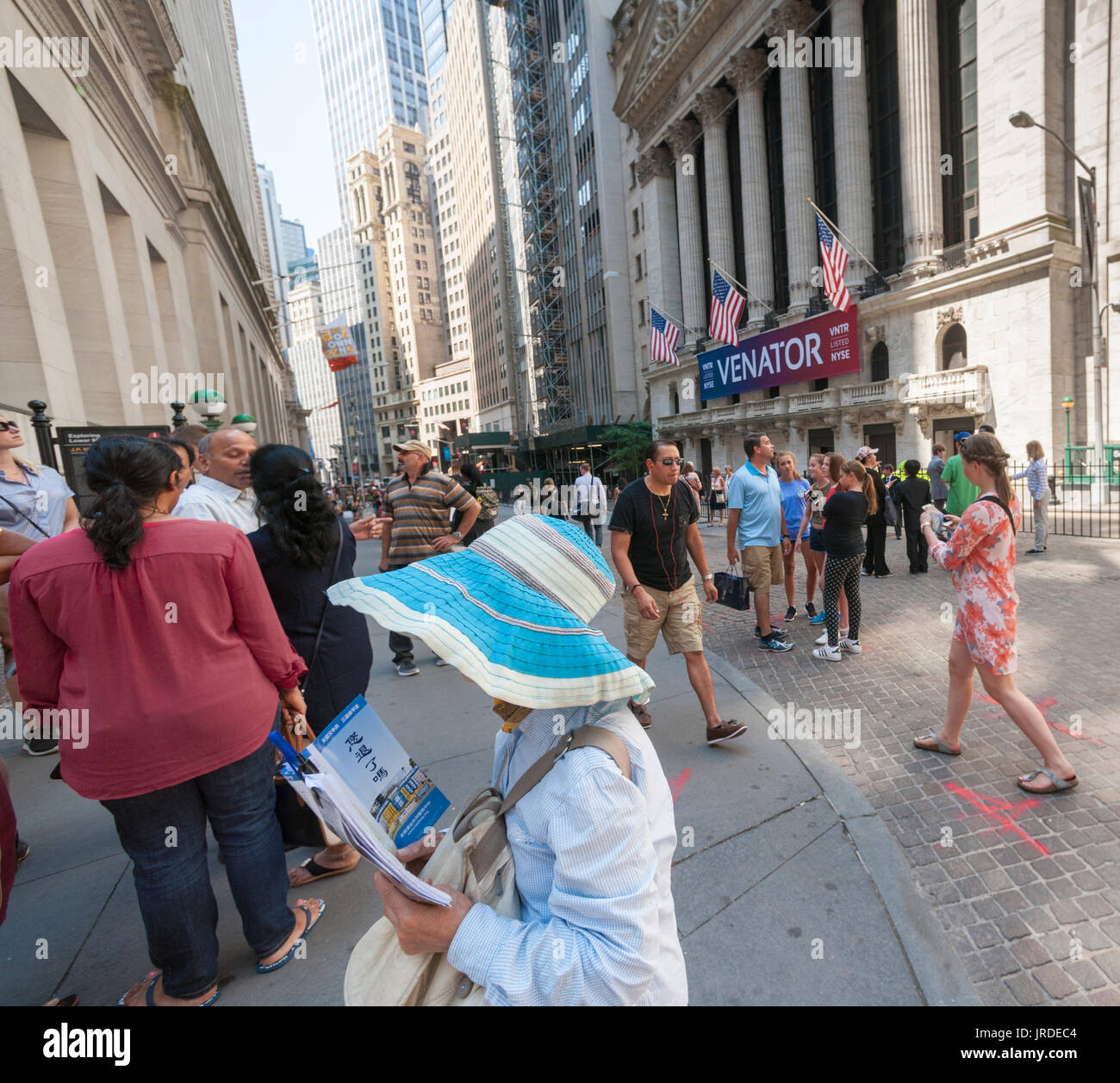 At the fitbit ipo celebration at new york stock exchange on thursday - Hordes Of Tourists Outside The New York Stock Exchange In Lower Manhattan Decorated For The Initial