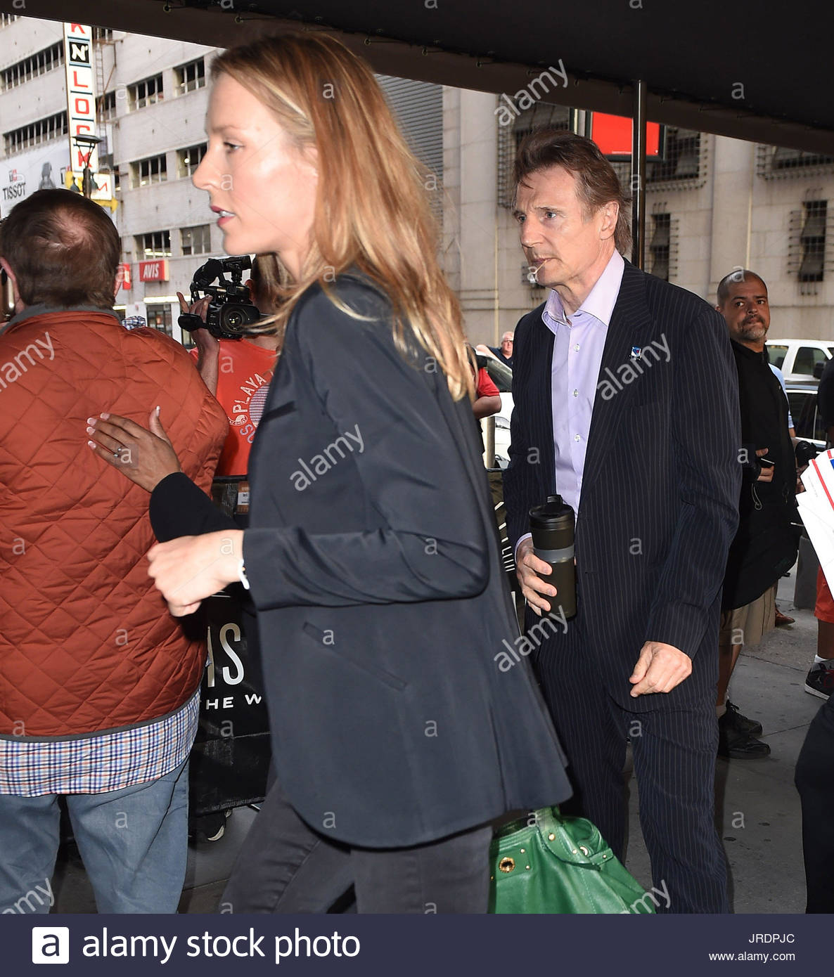 Liam neeson with girlfriend freya st johnston celebrites for A t the salon johnstone