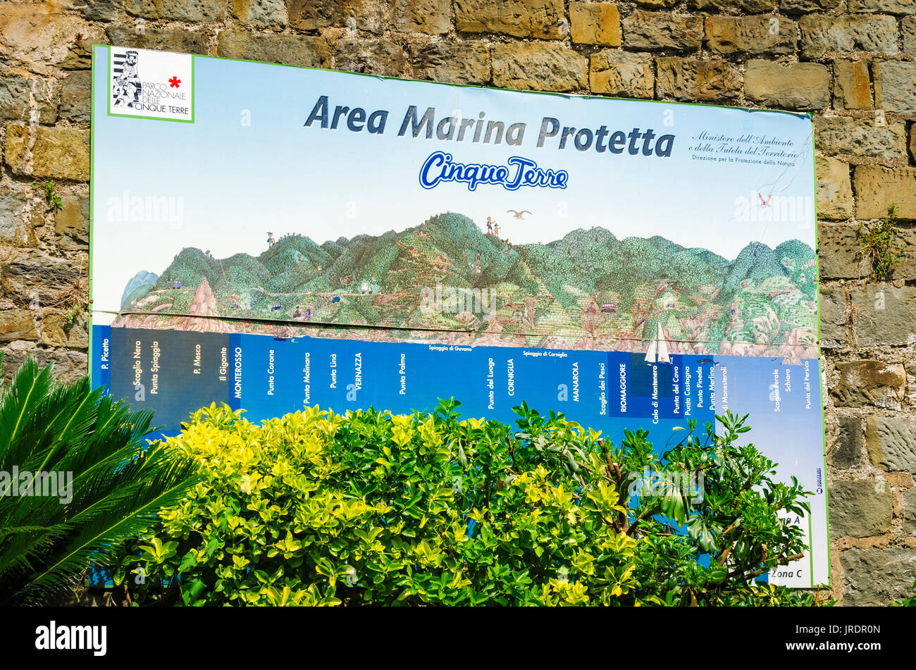 Riomaggiore Italy Map.Marina Map At The Riomaggiore Train Station Cinque Terre Liguria