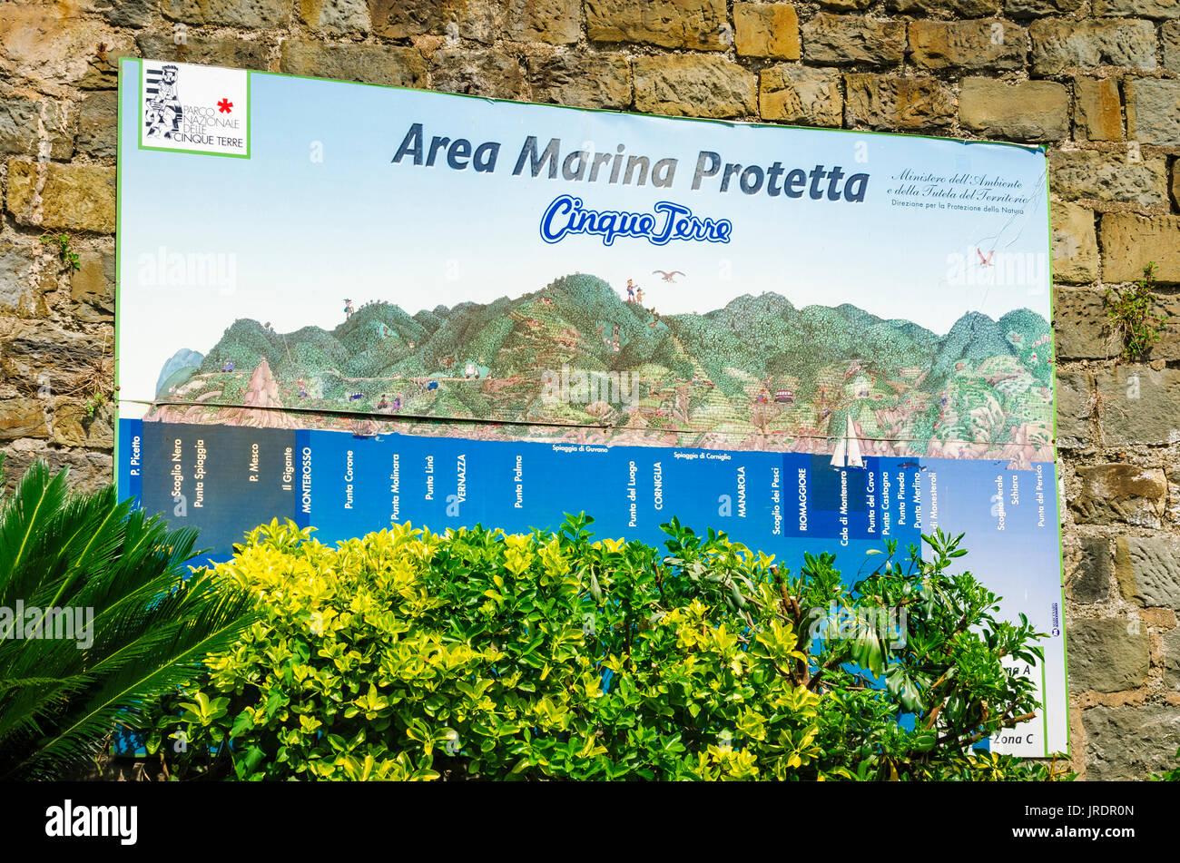 Riomaggiore Italy Map.Marina Map At The Riomaggiore Train Station Cinque Terre Liguria