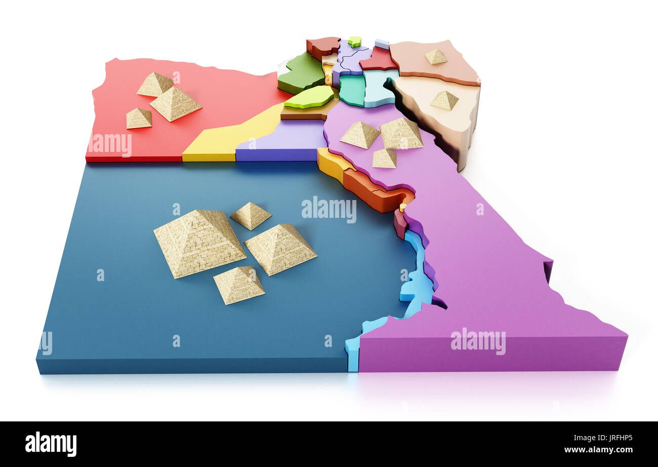 Egypt Map Stock Photos Egypt Map Stock Images Alamy - Map of egypt 3d