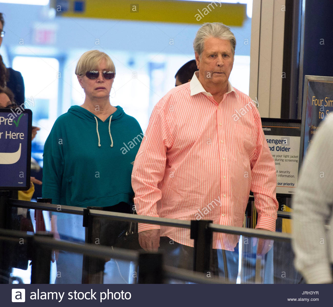 Brian Wilson And Melinda Ledbetter From The Beach Boys With His Wife