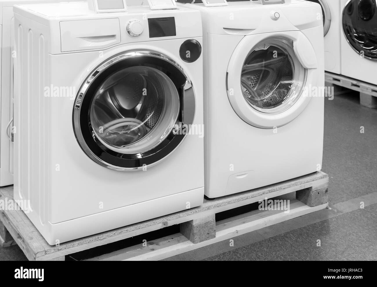 appliances store presents for sale a modern washing machine
