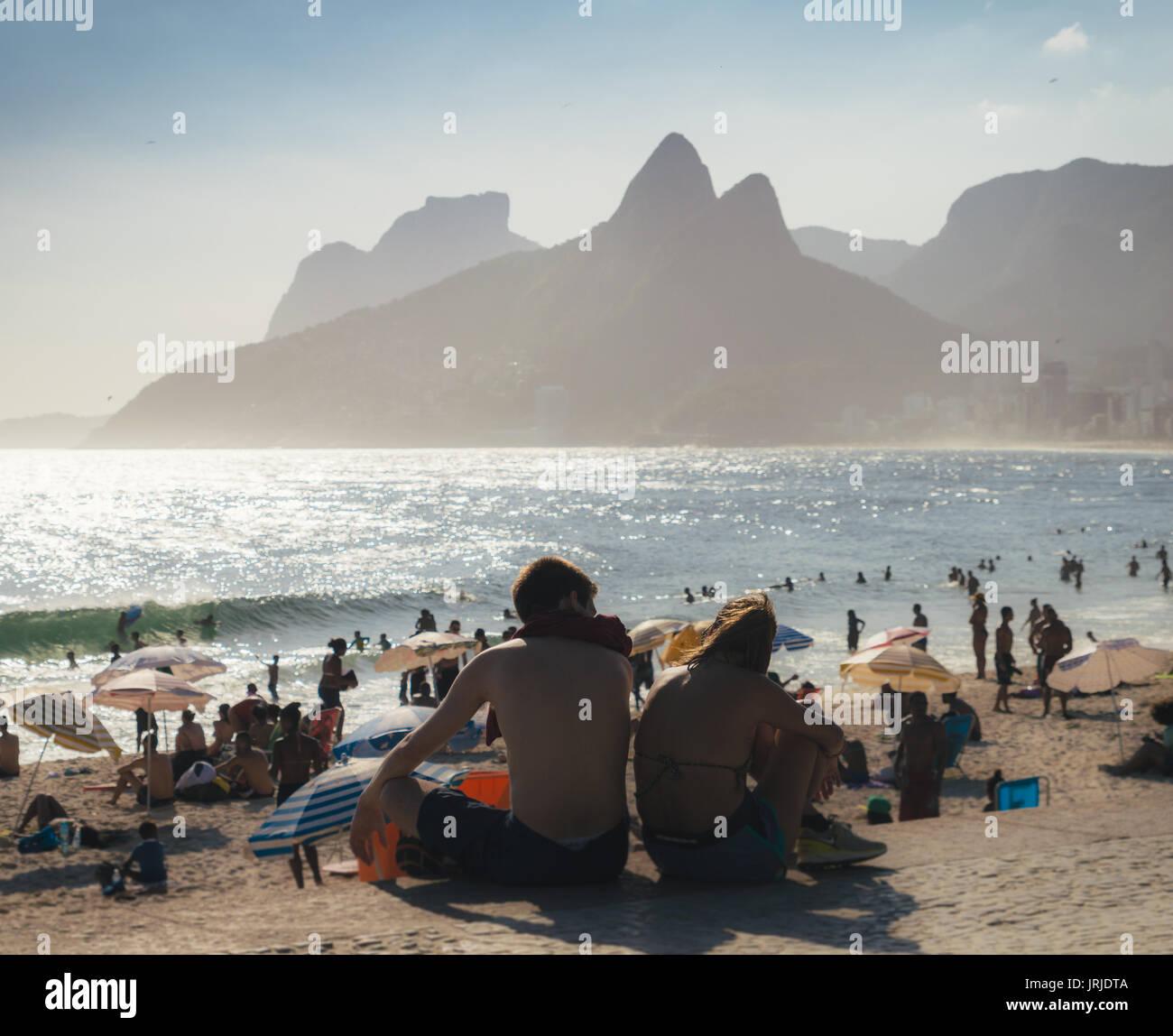 girl ipanema couples in love on the beach