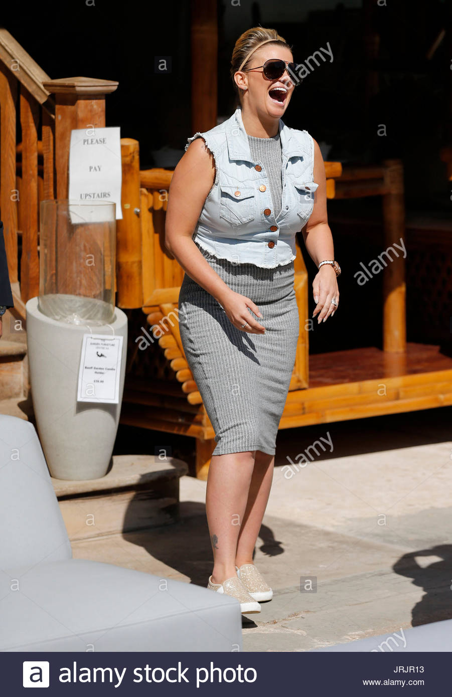 kerry katona kerry katona visits garden furniture centre at yew tree farm craft centre in wootton wawen