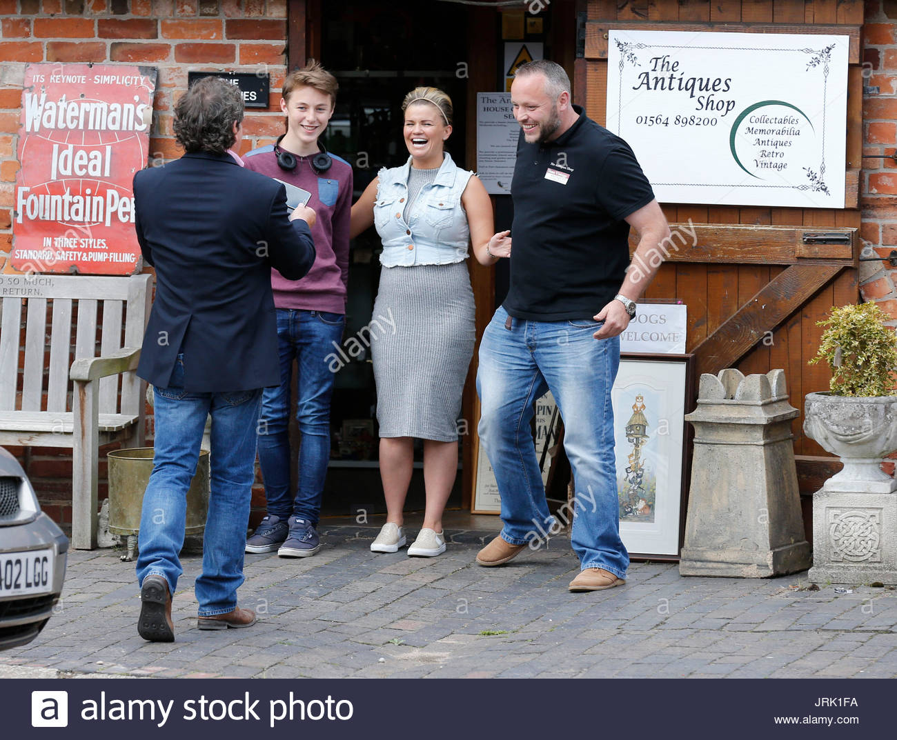 stock photo kerry katona kerry katona visits garden furniture centre at yew tree farm craft centre in wootton wawen