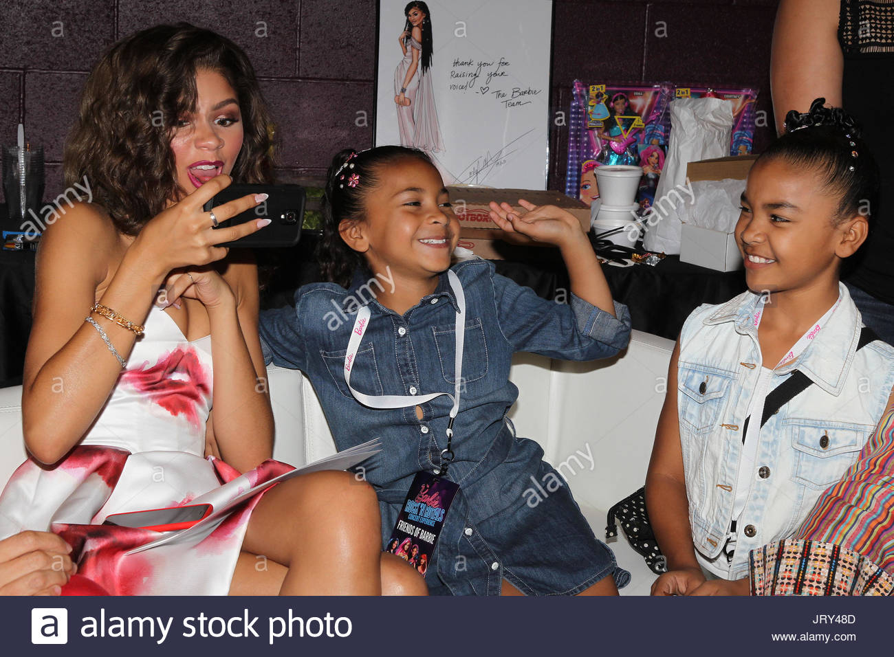 Zendaya nieces isys imani zendaya receiving her one of a kind zendaya receiving her one of a kind barbie and meet and greet at the barbie rock n royals concert experience dress by msgm makeup is dior kristyandbryce Image collections