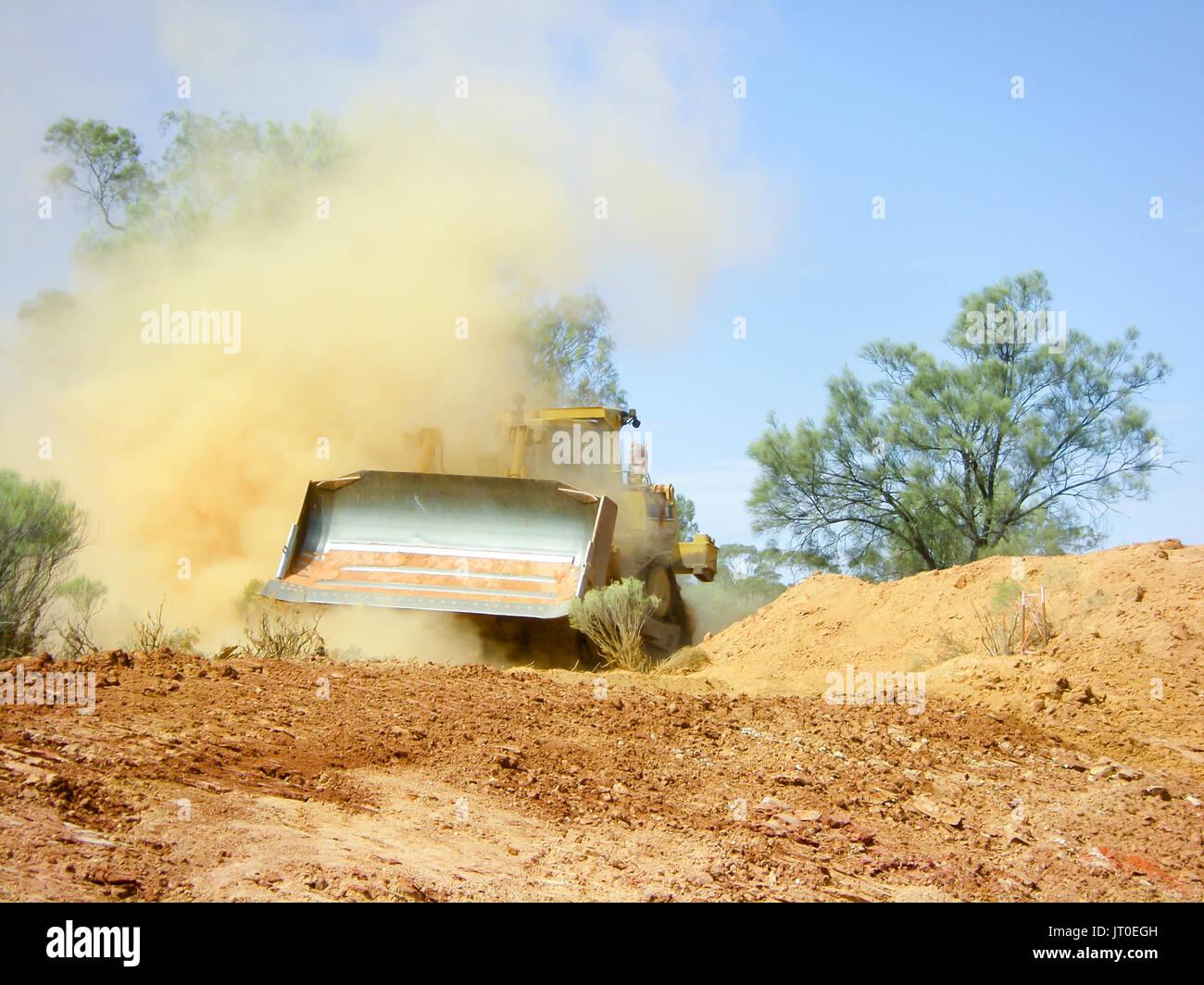 bulldozer earthworks stock photo 152446129 alamy