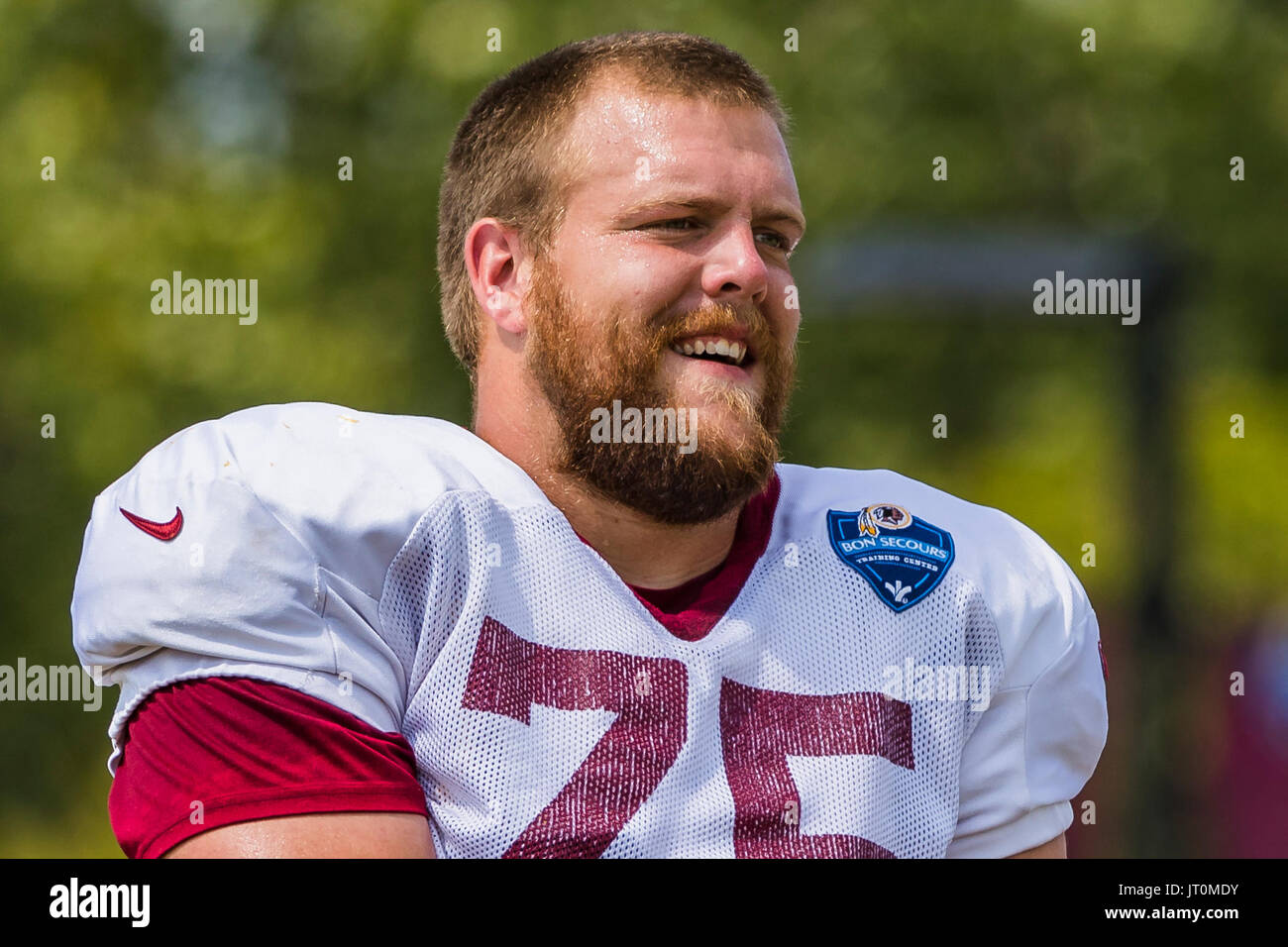 August 06 2017 Washington Redskins offensive guard Brandon