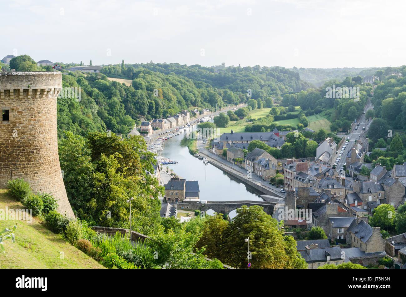France brittany dinan port river stock photos france for Circuit jardins anglais
