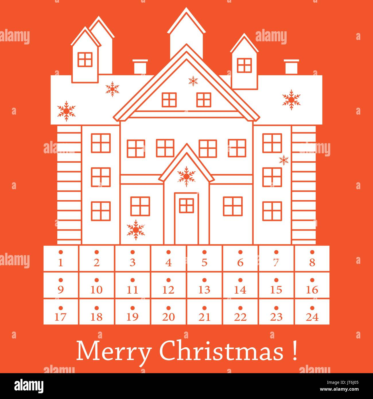 Christmas Calendar Illustration : Advent calendar window stock photos