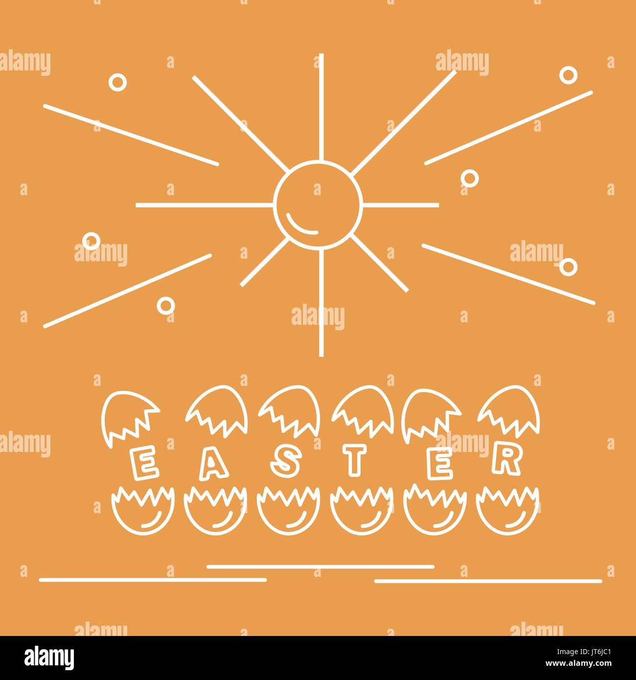 Cute Vector Illustration With Symbols For Easter Design For Banner