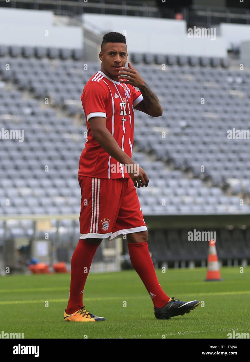 Munich Germany 8th Aug 2017 Bayern Munich s Corentin Tolisso