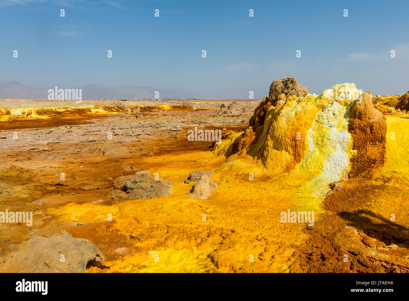 colourful spings of acid in dallol hottest place on earth danakil