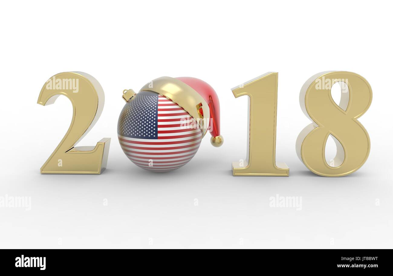 happy new year 2018 with america flag stock photo 152685508 alamy