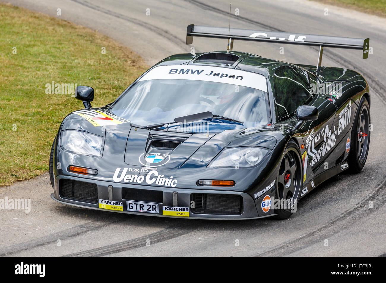 1995 McLaren F1 GTR Longtail Le Mans endurance racer with driver ...